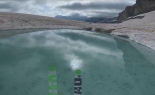 L'arrivée dans un petit lac de neige fondue.