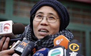 Liu Xia, l'épouse du prix nobel de la paix 2010, le 25 décembre 2009 à Pékin.