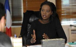 La Secrétaire d'Etat aux Sports, Rama Yade, dans son bureau, le vendredi 29 octobre 2009.