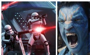Images extraites de «Star Wars 7 : Le Réveil de la Force» et «Avatar».
