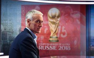 Didier Deschamps sur le plateau de TF1 pour l'annonce de la liste des 23 pour le Mondial 2018, le 17 mai 2018.