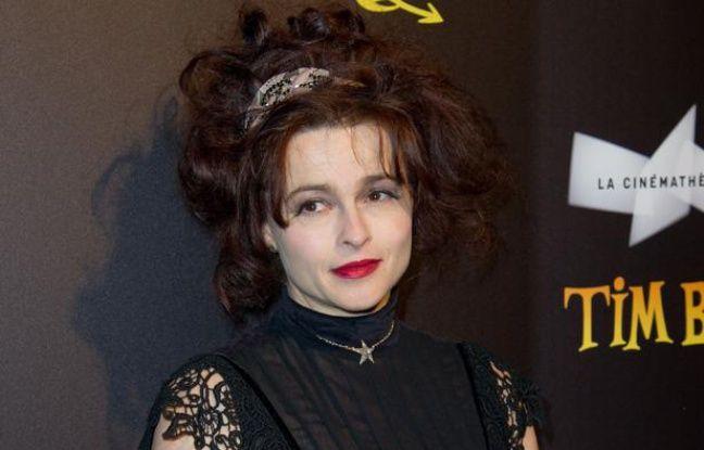 Helena Bonham Carter, lors de l'inauguration de l'exposition «Tim Burton» à la Cinémathèque française à Paris en mars 2012.