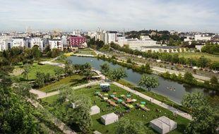 Vue globale sur le futur parc paysager de Baud-Chardonnet.