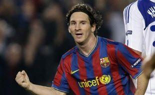 L'attaquant argentin du FC Barcelone, Lionel Messi, le 29 septembre 2009 en Ligue des champions, face au Dynamo Kiev.