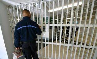 Un gardien de prison à Fleury-Mérogis, près de Paris, en 2013