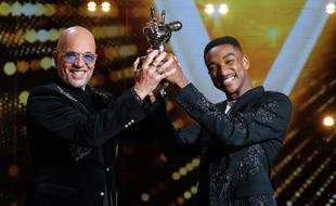 Abi et Pascal Obispo lors de la finale de «The Voice» 2020