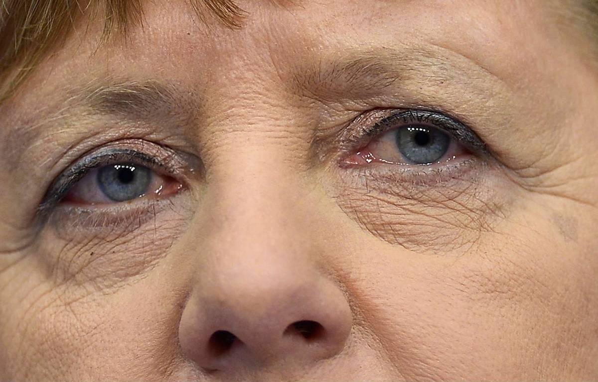 Angela Merkel lors du Sommet européen, le 19 février 2016. – Martin Meissner/AP/SIPA