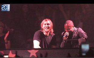 David Guetta la nuit du mardi 22 mai 2012 à Cannes.
