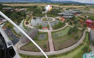 Ungersheim le 08 juillet 2014. Ouverture du parc du Petit prince en presence du parrain, Yannick Noah