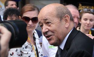 Jean-Yves Le Drian, tête de liste socialiste aux régionales, ici à Rennes en juillet 2015.