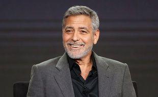 George Clooney lors d'une conférence de presse en février 2019.