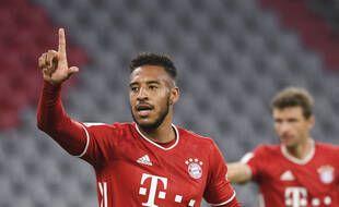Tolisso a inscrit un but contre le Borussia