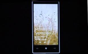 L'écran d'accueil de Windows Phone 7