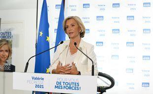 Valérie Pécresse le 27 juin 2021, après sa victoire au Conseil régional d'Ile-de-France.