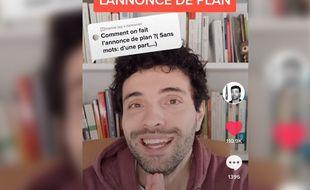 Professeur d'histoire, sur TikTok, Yann Bouvier poste des contenus pédagogiques et fun à la fois.