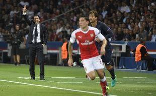 Le coach du PSG Unai Emery lors du match contre Arsenal lors de la 1ère journée de Ligue des champions, le 13 septembre 2016.