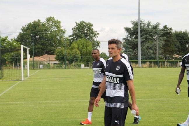 Jérémy Toulalan, lors de son premier entraînement avec les Girondins, au Haillan, le 29 juin 2016.
