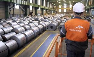 Un employé de ArcelorMittal dans l'usine de Florange, le 16 avril 2013