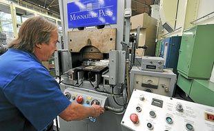 Les ateliers de la Monnaie de Paris ont produit 1,3 milliard de pièces en 2012.