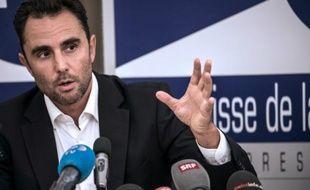 Hervé Falciani, l'ancien banquier de la HSBC, a Divonne-les-Bains le 28 octobre 2015