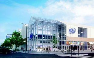 L'îlot Cap de Bonne Espérance, au sein du projet Quai des Caps, accueillera le cinéma UGC de 13 salles (Hardel & Le Bihan)