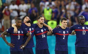 Lors de la séance de tirs au but du huitième de finale de l'Euro France-Suisse, à Bucarest (Roumanie), le 28 juin 2021.