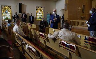 Joe Biden s'est notamment rendu dans une église de Kenosha, dans le Wisconsin, le 3 septembre 2020.