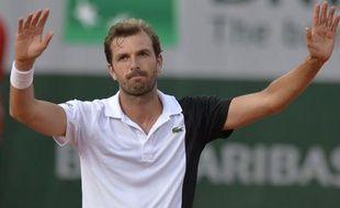 Julien Benneteau à Roland-Garros le 29 mai 2013.
