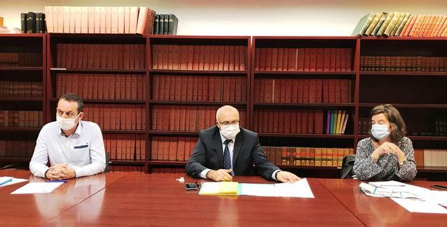 Guillaume Jouis-directeur du service pénal socio judiciaire de l'ADAES 44, Pierre Sennès-procureur de la République de Nantes, Camille Dormegnies-directrice de France Victimes 44 Nantes