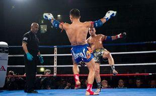 Fabio Pinca, star de la boxe thaï en France.