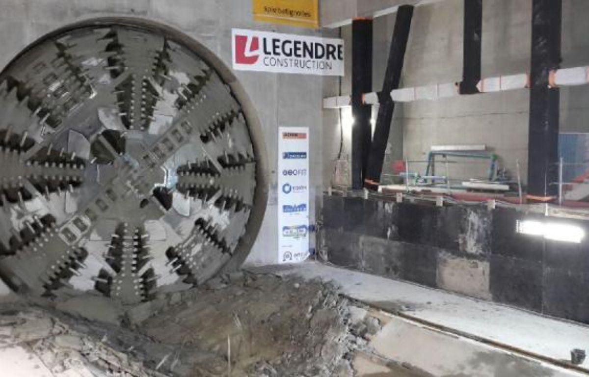 Le tunnelier Elaine a percé à la station Jules-Ferry le 16 juin 2017. – Semtcar
