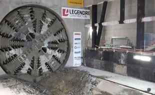 Le tunnelier Elaine a percé à la station Jules-Ferry le 16 juin 2017.