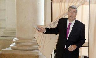 Patrick Balkany, maire de Levallois-Perret, lors du 1er tour des élections municipales, le 23 mars 2014