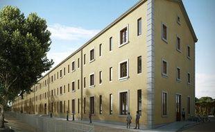 La Sacvl va réaménager une ancienne caserne militaire en résidence étudiante au parc Blandan d'ici la rentrée 2017.