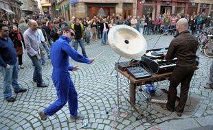 Lors de la Fête de la musique à Strasbourg.