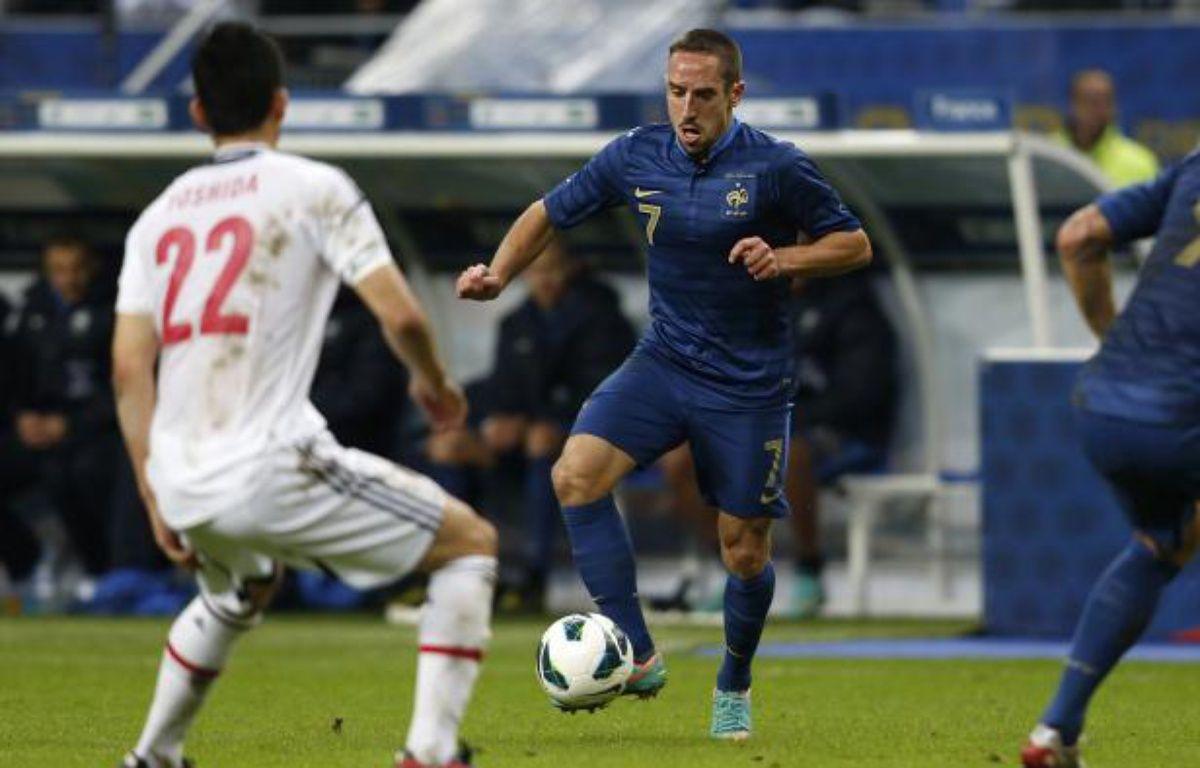 L'attaquant de l'équipe de France, Franck Ribéry, lors du match contre le Japon, le 12 octobre 2012 au Stade de France. – REUTERS