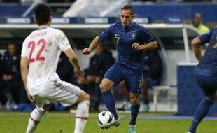 L'attaquant de l'équipe de France, Franck Ribéry, lors du match contre le Japon, le 12 octobre 2012 au Stade de France.