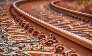 Des rails de train