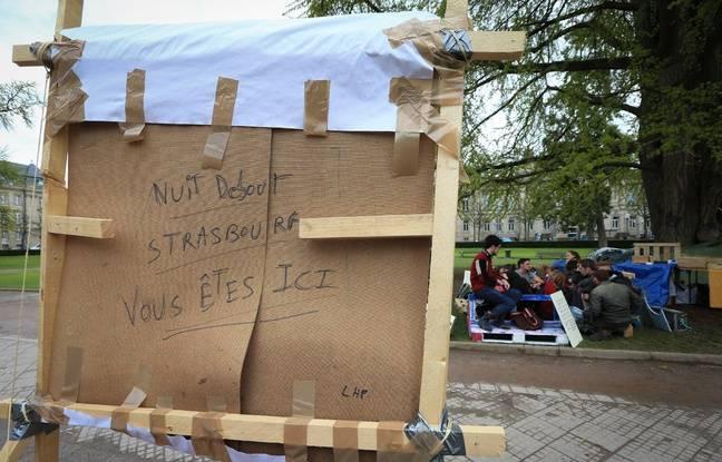 #NuitDebout à Strasbourg. Nouveau lieu de vie.