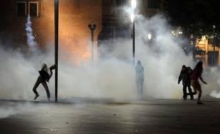 Samedi soir, affrontements entre des manifestants et les forces de l'ordre, près du Capitole
