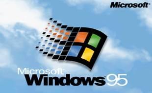 L'écran de chargement de Windows 95.