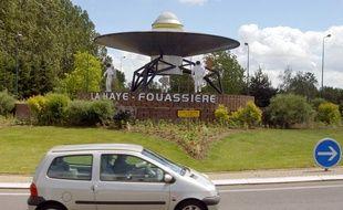 Le rond-point de l'espace est situé à la Haye Fouassière, dans la vignoble nantais