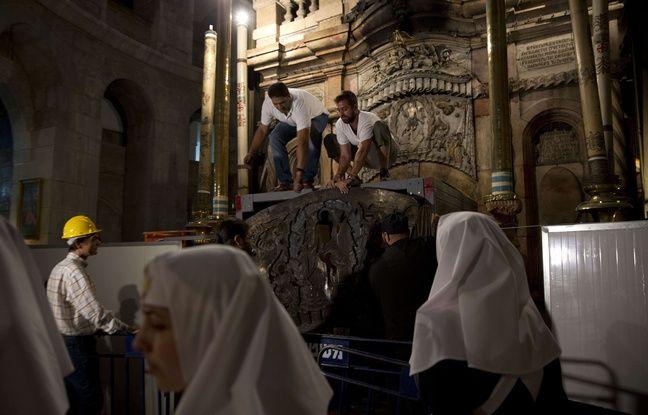 La restauration de la tombe de Jésus durant l'été 2016