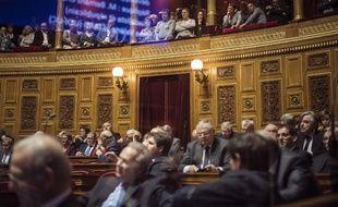 Des sénateurs au palais du Luxembourg