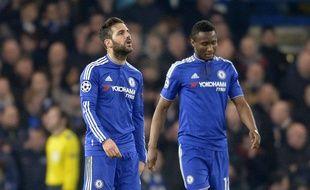 La déception des joueurs de Chelsea