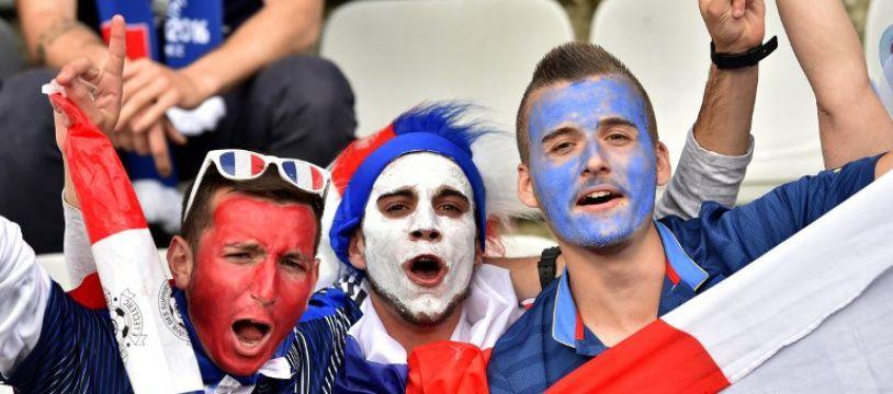 Des supporters des Bleus lors de France-Cameroun en 2016 à la Beaujoire.