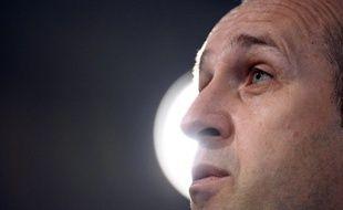 Le sélectionneur du XV de France Philippe Saint-André, le 6 mars 2013 en Ecosse.