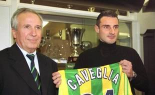 Kleber Bobin, lors de l'arrivée de l'attaquant Alain Caveglia au FC Nantes en 1999.