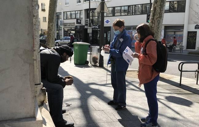 Paris, le 8 avril 2020. En raison du confinement, de nombreux SDF assurent avoir plus de mal à se nourrir.