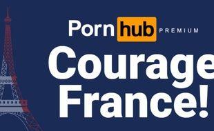 « Courage France », le message de Ponhub aux Français pendant le confinement.